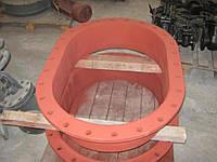 Люк - лаз овальный стальной , 900мм. х 600 мм. толщина обичайки 6мм Состояние отличное
