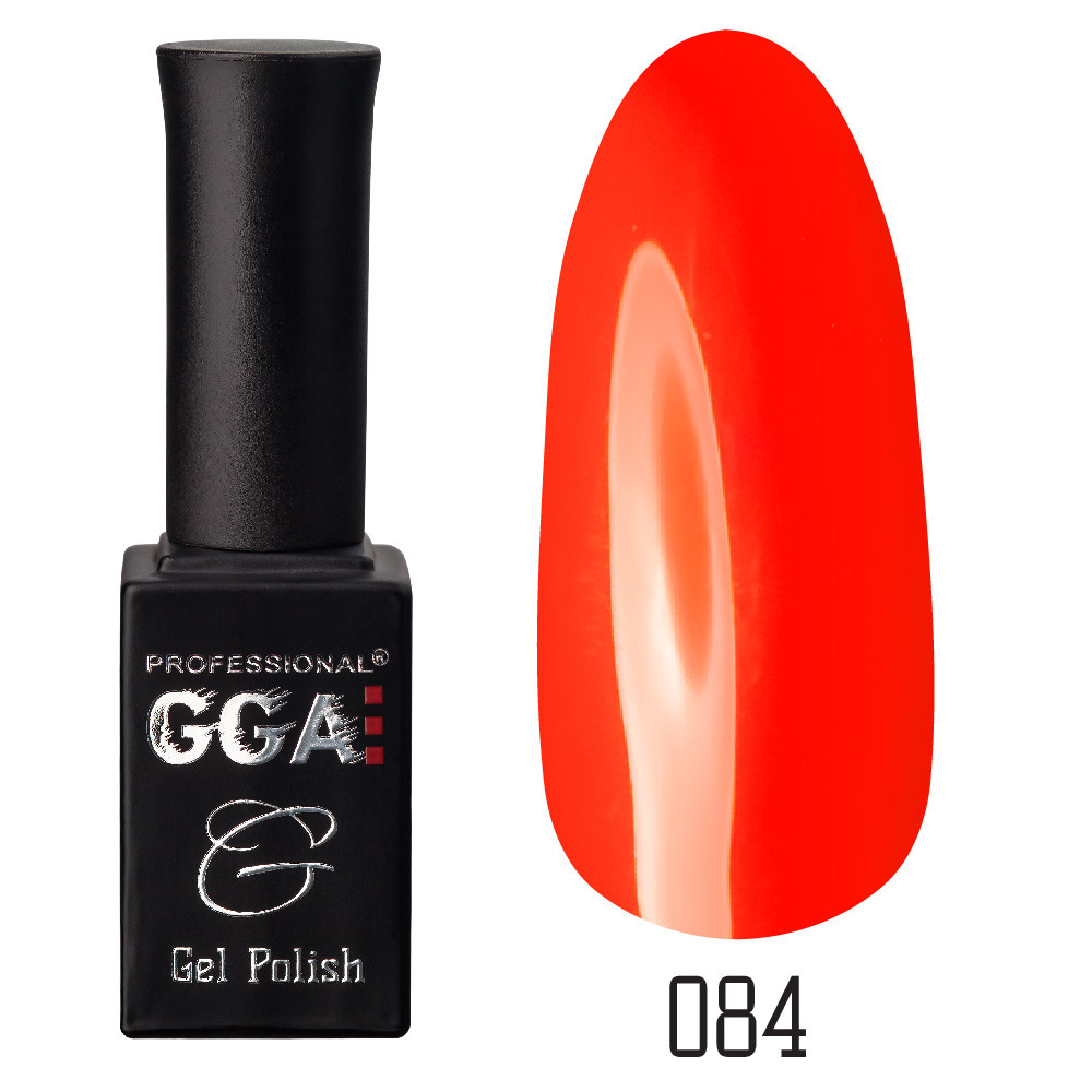 Гель-лак GGA Professional №84 Safety Orange 10 мл.