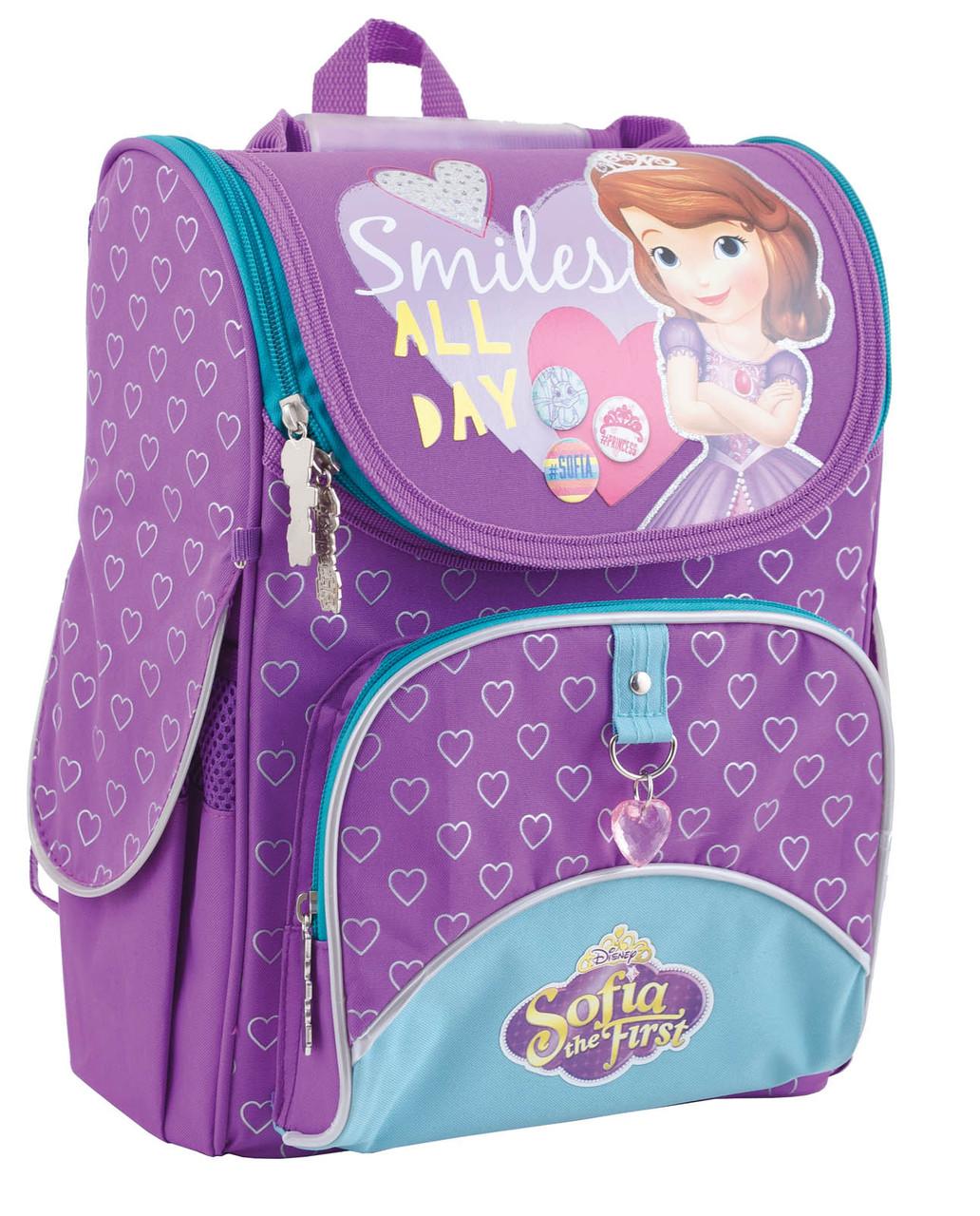 553269 Рюкзак каркасный YES H-11 Sofia purple 34*26*14