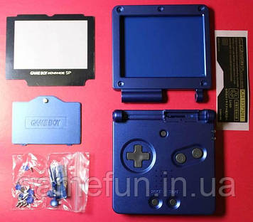 Корпус Game Boy Advance SP (Premium) (Синий)