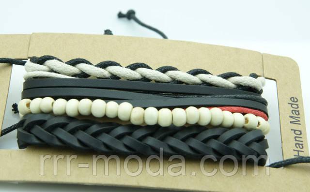 Кожаная мужская бижутерия RRR, мужские браслеты.