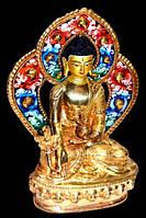 """Статуэтка бронзовая """"Будда Ратнасамбхава"""" с позолотой"""