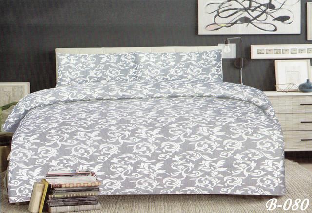 Двуспальный с евро простынью комплект Милена (серый)