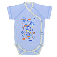 Бодики для новорожденных р.56см. Хлопок-Ажур, 13040тро , короткий рукав 0-3 месяцев, В наличии 56,62 Рост
