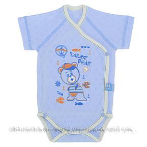Бодики для новорожденных р.62см. Хлопок-Ажур, 13040тро , короткий рукав 0-3 месяцев, В наличии 56,62 Рост, фото 2