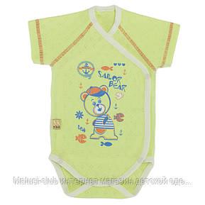 Бодики для новорожденных р.56см. Хлопок-Ажур, 13040тро , короткий рукав 0-3 месяцев, В наличии 56,62 Рост, фото 2