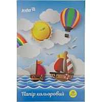 Бумага цветная односторонняя Kite K17-1250