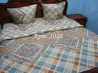 Комплект постельного БЯЗЬ оптом и в розницу, Шотландка 1020