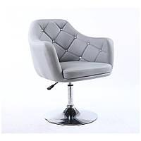 Парикмахерское  кресло HC 830 серое, фото 1