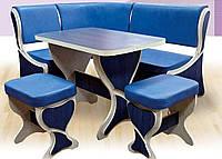 Кухонный уголок комплект Фараон Mobili&Vetro угол+стол+4 табуретки