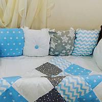 Бортики в детскую кроватку + утепленное  одеяло