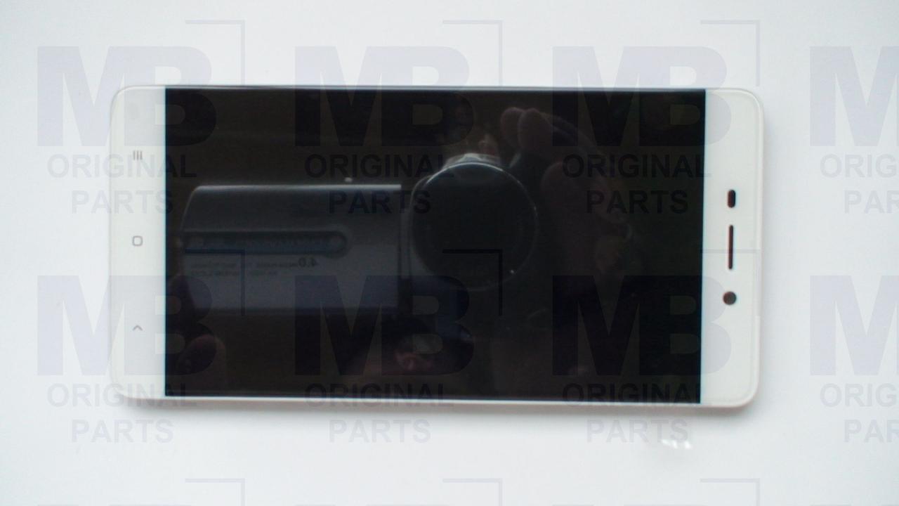 Дисплей с сенсором Xiaomi Redmi 4 Silver/серебристый, оригинал с рамкой!