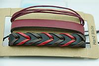 Плетенный модный мужской браслет, комплект многорядных браслетов фенечек для мужчин 167