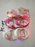 Детские сандалии с подсветкой для девочек оптом Размеры 20-25