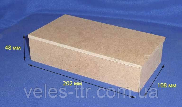 Шкатулка Купюрница без петель 20,2х10,8х4,8 см МДФ заготовка для декора