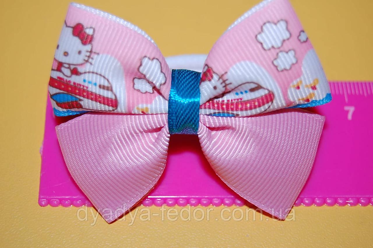 Резинка для волос бантик Hello Kitty розовый код мп180