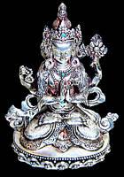 """Статуэтка серебряная """"Авалокитешвара"""" (15,5 см)"""