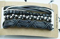 Модные плетенные фенечки браслеты, комплект мужских многорядных браслетов 170