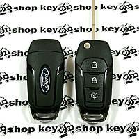 Оригинальный корпус выкидного ключа для FORD (Форд) Fiesta,Focus 3 ― кнопки , лезвие HU101