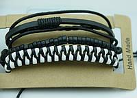 Мужской многорядный браслет фенечка, комплект мужских многорядных браслетов 173