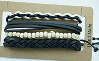 Мужской браслет фенечка, комплекты мужских многорядных браслетов 174