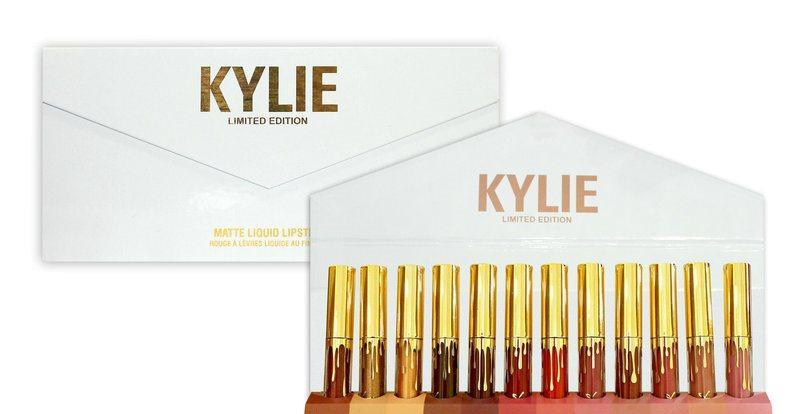 Набор матовых жидких помад Kylie в конверте 12 шт