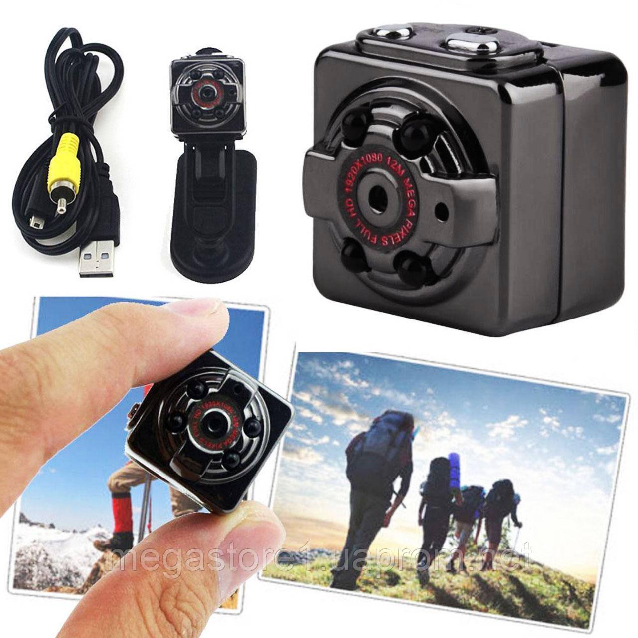 Мини камера, Видеорегистратор SQ8 12MP 1080P Full HD датчик движения,