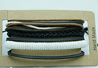 Летний браслет из фенечек для мужчин, комплект мужских многорядных браслетов 181