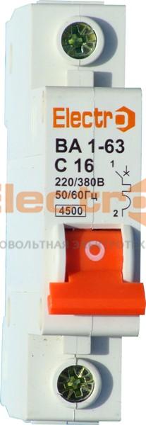 Автоматический выключатель ВА1-63 1 полюс    25A  6кА