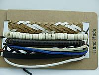 Модные мужские фенечки, браслеты из фенечек для мужчин, комплект мужских многорядных браслетов 186