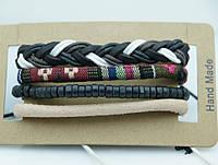 Модные мужские фенечки, браслеты из фенечек, комплект мужских многорядных браслетов 187