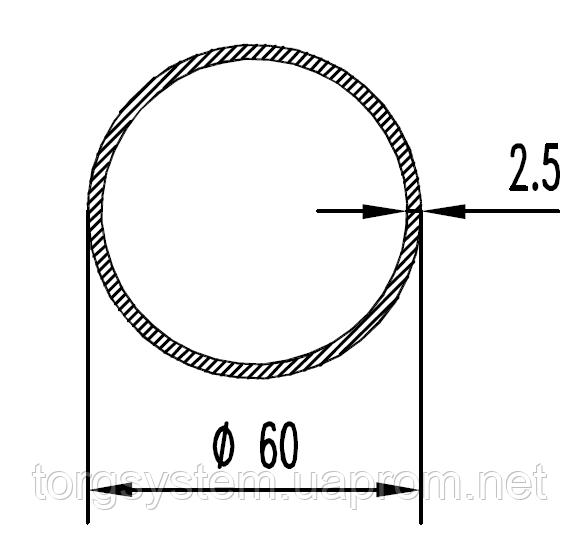 Алюмінієва Труба кругла ПАС-1225 60х2.5 / AS Срібло