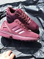Кроссовки Adidas ZX Flux Maroon. Живое фото. Топ качество (адидас кроссовки)