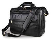 Мужская кожаная сумка JASPER&MAINE 7146A-1 черная