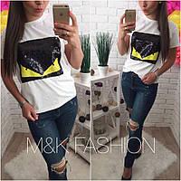 Стильная женская футболка н-t417416