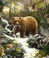 Алмазная вышивка Медведь на охоте 50 х 40 см (арт. FR525) полное заполнение