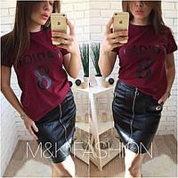 Стильная женская футболка н-t417425