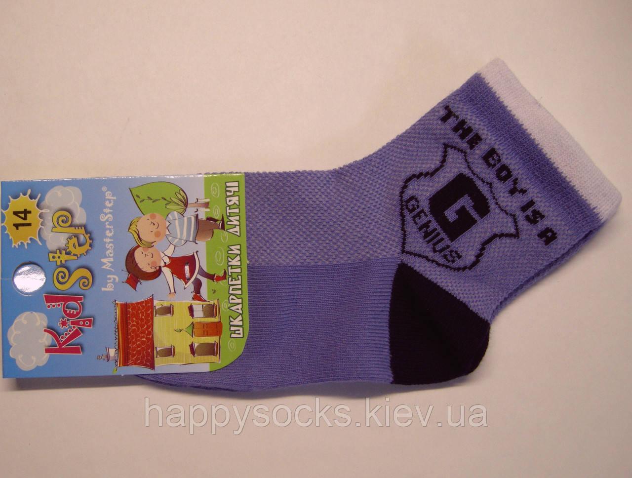 Носки в сетку мальчиковые сиреневого цвета