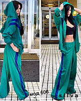 Шелковый стильный костюм 606 Ник