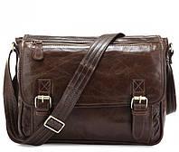 Мужская сумка через плечо JASPER&MAINE 7022Q-2 коричневая