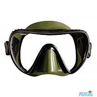 Маска для подводной охоты Mares Essence LiquidSkin; чёрно-зелёная марес есенс ликвидскин