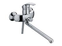 Смеситель для ванны с длинным гусаком Haiba Mars 006 euro (лейка,шланг,держатель)