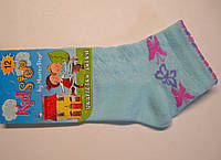 Носки в сетку летние для девочек голубого цвета, фото 1