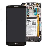 Дисплей для LG D802 G2/D805 + touchscreen. чрный. 20 pin. с передней панелью. оригинал (Китай)