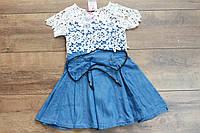 Джинсовое платье для девочек 4- 8 лет