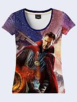 3D Женская футболка Doctor Strange с ярким молодежным рисунком.