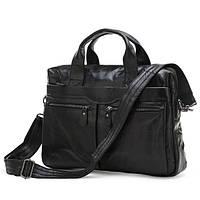 Мужская кожаная сумка JASPER&MAINE 7122А черная