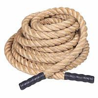 Спортивный Канат тренировочный 1,5м Rising Battle 50мм rope для дома и спортзала