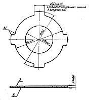 Фрикционный диск 1К62.02.206 (внешний)