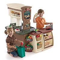 """Игровая детская кухня и магазин """"Маркет"""" - Step 2 - США- в наборе кассовый апарат и сканер со звуковыми эффект"""